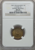 Civil War Merchants, 1863 Empire Brewery, Milwaukee, WI, MS64 NGC. Fuld-WI510C-1b....