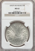 Mexico, Mexico: Republic 8 Reales 1893 Pi-MR,...