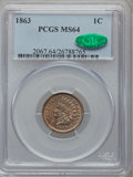 Indian Cents: , 1863 1C MS64 PCGS. CAC. PCGS Population (780/244). NGC Census:(615/223). Mintage: 49,840,000. Numismedia Wsl. Price for pr...