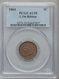 Indian Cents: , 1864 1C L On Ribbon AU55 PCGS. PCGS Population (85/266). NGCCensus: (69/393). Mintage: 39,233,712. Numismedia Wsl. Price f...