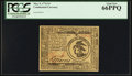 Colonial Notes:Continental Congress Issues, Continental Currency May 9, 1776 $3 PCGS Gem New 66PPQ.. ...