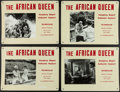 """Movie Posters:Adventure, The African Queen (Colombus Films, R-1950s). Swiss Lobby Cards (4)(13"""" X 17.25""""). Adventure.. ... (Total: 4 Items)"""