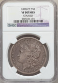 Morgan Dollars: , 1878-CC $1 -- Stained -- NGC Details. VF. NGC Census: (40/16018).PCGS Population (84/22069). Mintage: 2,212,000. Numismedi...