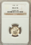 Mercury Dimes: , 1940 10C MS67 Full Bands NGC. NGC Census: (322/6). PCGS Population(332/24). Mintage: 65,361,828. Numismedia Wsl. Price for...