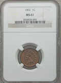 Indian Cents: , 1862 1C MS61 NGC. NGC Census: (81/1248). PCGS Population (27/1650).Mintage: 28,075,000. Numismedia Wsl. Price for problem ...
