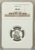 Lincoln Cents: , 1943-S 1C MS66 NGC. NGC Census: (2851/2007). PCGS Population(3685/1678). Mintage: 191,550,000. Numismedia Wsl. Price for p...