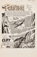 "Original Comic Art:Splash Pages, Jim Aparo The Phantom #34 ""The Cliff Kingdom"" Splash Page 1Original Art (Charlton, 1969)...."