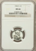 Lincoln Cents: , 1943-S 1C MS66 NGC. NGC Census: (2853/2007). PCGS Population(3763/1691). Mintage: 191,550,000. Numismedia Wsl. Price for p...
