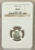 Lincoln Cents: , 1943-S 1C MS66 NGC. NGC Census: (2852/2007). PCGS Population(3763/1690). Mintage: 191,550,000. Numismedia Wsl. Price for p...