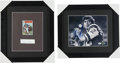 Football Collectibles:Photos, Joe Namath and Gale Sayers Signed Memorabilia Lot of 2....