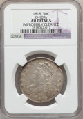 Bust Half Dollars: , 1818 50C -- Improperly Cleaned -- NGC Details. AU. O-109a. NGCCensus: (43/491). PCGS Population (89/305). Mintage: 1,960,...