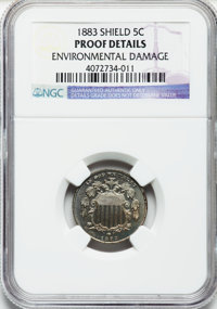 1883 5C -- Environmental Damage -- NGC Details. Proof. NGC Census: (0/1012). PCGS Population (4/1176). Mintage: 5,419. N...