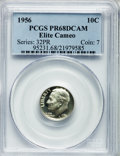 Proof Roosevelt Dimes, 1956 10C PR68 Elite Deep Cameo PCGS. PCGS Population (24/1). NGCCensus: (29/13). Numismedia Wsl. Price for problem free N...