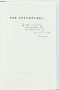 Books:Literature 1900-up, Cormac McCarthy. The Stonemason, A Play in Five Acts.[Hopewell, New Jersey]: The Ecco Press, [1994]. Later edit...