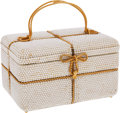Luxury Accessories:Bags, Judith Leiber Full Bead Chalk Crystal Gift Box Minaudiere EveningBag. ...