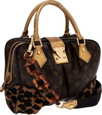 Louis Vuitton by Stephen Sprouse Classic Monogram Canvas & Leopard Pony Hair Adele Bag with Tortoise Link Shoulder S...