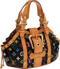 Luxury Accessories:Bags, Louis Vuitton Black Monogram Multicolor Canvas Theda GM Bag. ...