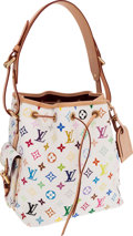 Luxury Accessories:Bags, Louis Vuitton White Monogram Multicolor Canvas Noe Shoulder Bag....