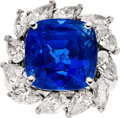 Estate Jewelry:Rings, Sapphire, Diamond, Platinum Ring, Monture Harry Winston. ...