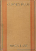 Books:Books about Books, [Books About Books]. Oliver Simon [editor]. The Curwen PressMiscellany. Curwen Press, 1931. First edition, first pr...