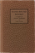 Books:Books about Books, [Books About Books]. Clara Buffum. SIGNED/LIMITED. Hand-BoundBooks. Buffum, 1935. Limited to 500 numbered and...