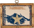 Autographs:Military Figures, [Civil War]. Fragment from the Flag of the Ohio 110th Infantry Regiment, ca. 1862....