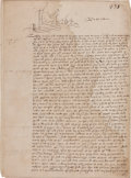 Autographs:Non-American, Queen Elizabeth I Document Signed...
