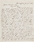 Autographs:U.S. Presidents, Abraham Lincoln Autograph Letter Signed with Original Envelope withSecond Free Frank Signature....