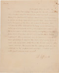 Autographs:U.S. Presidents, Thomas Jefferson Autograph Letter Signed...