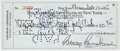 Autographs:Celebrities, George Gershwin Signed Check...