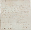 Autographs:Non-American, William Pitt (The Younger) Letter Signed...