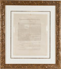 Autographs:Statesmen, [John Hancock]. Massachusetts Broadside for the Election ofElectors in the First Presidential Election....