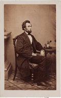 Autographs:U.S. Presidents, Abraham Lincoln Carte-de-Visite....