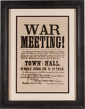 Miscellaneous:Broadside, Civil War Draft Broadside....