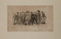 "Books:Americana & American History, [Americana]. Satirical Engraving of Nineteenth-Century BostonCharacters. Includes ""Falstaff Warren"" and ""Brutus Pelby"" andothe..."