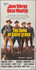 "Movie Posters:Western, The Sons of Katie Elder (Paramount, 1965). Three Sheet (41"" X 79""). Western.. ..."