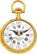 Timepieces:Pocket (pre 1900) , LeRoy & Fils Paris Choice Gold Repousse, circa 1885. ...
