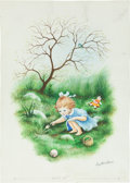 Books:Original Art, Garth Williams. Original Large Watercolor Painting. A PreliminaryIllustration for Page One for Over and Over by C...