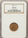 Indian Cents: , 1861 1C MS64 NGC. NGC Census: (285/187). PCGS Population (403/243).Mintage: 10,100,000. Numismedia Wsl. Price for problem ...
