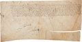 Autographs:Non-American, Francis I, King of France, Document Signed...