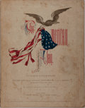 Books:Americana & American History, Joseph Rodman Drake. The American Flag. New York: James G.Gregory, 1861. First edition. Octavo. Publisher's ill... (Total: 2Items)