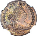Early Dimes, 1804 10C 14 Stars on Reverse MS63 NGC. JR-2, R.5....
