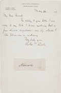 Autographs:U.S. Presidents, Robert Todd Lincoln Autograph Letter Signed Sending Abraham LincolnClipped Signature....