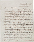 Autographs:U.S. Presidents, Andrew Johnson Autograph Letter Signed....