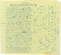"Books:Manuscripts, Abbie Hoffman (American Revolutionary, 1936-1989). Autograph Letter Signed. May 6 [1976]. Addressed ""Dear Editor"" (to the ed... (Total: 3 Items)"