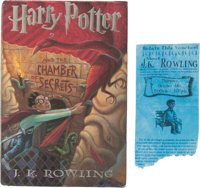 J. K. Rowling. Harry Potter and the Chamber of Secrets. New York: Scholastic Press, [1999]. Fir