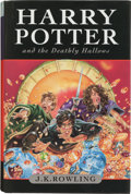 Books:Science Fiction & Fantasy, J. K. Rowling. Harry Potter and the Deathly Hallows. London: Bloomsbury, [2007]. First edition of the final Harry Po...