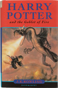 Books:Children's Books, J. K. Rowling. Harry Potter and the Goblet of Fire. London:Bloomsbury, [2000]. First edition. Signed by the autho...