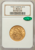 Liberty Eagles: , 1907 $10 MS64 NGC. CAC. NGC Census: (1058/91). PCGS Population(648/24). Mintage: 1,203,973. Numismedia Wsl. Price for prob...