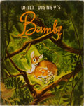 Books:Children's Books, [Walt Disney]. Bambi. Simon and Schuster, 1941. Publisher'spictorial boards with mild rubbing. Price-clipped dj sho...